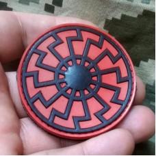 PVC патч Черное Солнце черно-красный