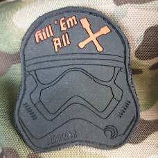 Купить PVC патч Kill em all (чорний) в интернет-магазине Каптерка в Киеве и Украине