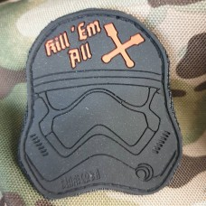 PVC патч Kill em all (чорний)