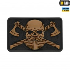 PVC патч M-TAC BEARDED SKULL 3D BLACK/COYOTE