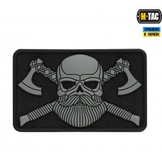 PVC патч M-TAC BEARDED SKULL 3D BLACK/GREY
