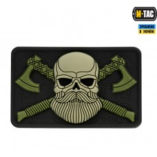 PVC патч M-TAC BEARDED SKULL 3D BLACK/OLIVE