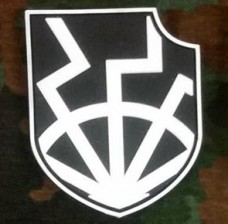 PVC патч Щит Чорного Сонця BLACK-WHITE