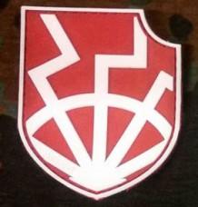 PVC патч Щит Чорного Сонця RED