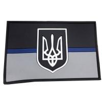 PVC патч Тонка Синя Лінія Україна #ThinBlueLineUkraine