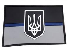 Купить PVC патч Тонка Синя Лінія Україна #ThinBlueLineUkraine в интернет-магазине Каптерка в Киеве и Украине
