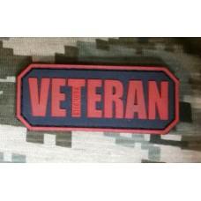 PVC патч Veteran (червоно-чорний)