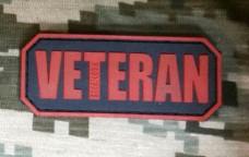 Купить PVC патч Veteran (червоно-чорний) в интернет-магазине Каптерка в Киеве и Украине