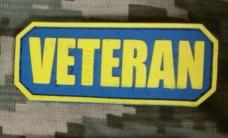 Купить PVC патч Veteran (синьо-жовтий) в интернет-магазине Каптерка в Киеве и Украине