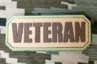 PVC патч Veteran (хакі)