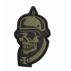 PVC патч WWI SKULL 3D PATCH GREEN