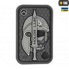 Купить PVC патч Molon Labe Ace 3D Grey в интернет-магазине Каптерка в Киеве и Украине