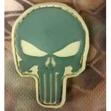 PVC патч Череп Punisher хаки