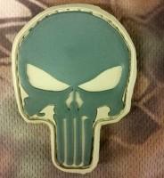 PVC патч Череп Punisher хакі