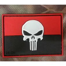 PVC патч Україна Punisher 3D червоно чорний