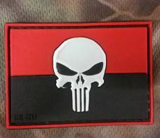 PVC патч Україна Punisher 3D червоно-чорний