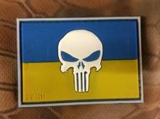 PVC патч Україна Punisher 3D