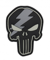 PVC патч PUNISHER THUNDER 3D PVC PATCH BLACK/GREY