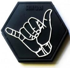 Резиновый шеврон Shaka (черный)