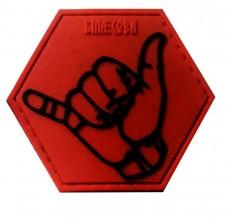 Резиновый шеврон Shaka (RED)