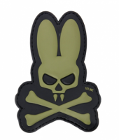 PVC патч SKULL BUNNY 3D PVC PATCH BLACK/GREEN