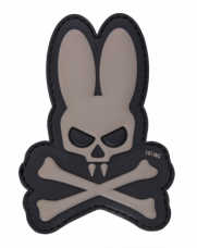 PVC патч SKULL BUNNY 3D PVC PATCH BLACK/GREY