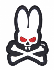 PVC патч SKULL BUNNY 3D PVC PATCH BLACK/WHITE