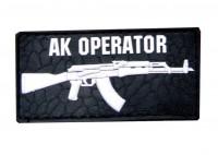 PVC патч AK OPERATOR (чорно-білий)