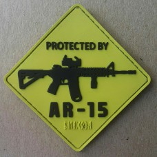 Шеврон Protected by AR15 ПВХ жовтий