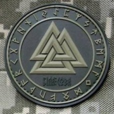 Шеврон Valknut in Odin Ring PVC Oliva