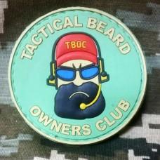 PVC патч Тактическая борода Резиновый шеврон Tactical Beard GREEN