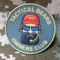 PVC патч Тактическая борода Резиновый шеврон Tactical Beard GREY