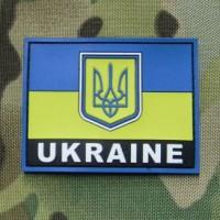 Патч прапор України Ukraine PVC 85х65 мм