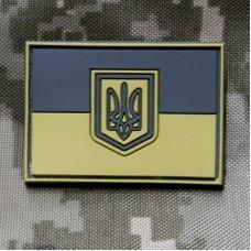 PVC патч прапор України койот 55х40мм