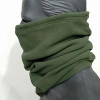 Зимовий флісовий шарф-труба Хакі