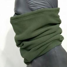 Зимний флисовый шарф-труба Хаки