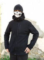 Куртка флисовая с капюшоном Чорна