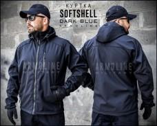 Куртка софтшел темно синяя Armoline DARK BLUE