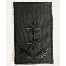 Погони поліції ПІДПОЛКОВНИК Чорний 8х5см Універсальний - муфта-липучка