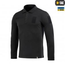 Купить Поло тактичне M-TAC з довгим рукавом 65/35 BLACK в интернет-магазине Каптерка в Киеве и Украине