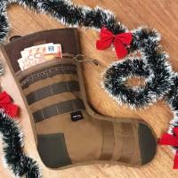 """Різдвяна """"тактична"""" панчоха  M-Tac Tactical Christmas stocking Coyote/Ranger Green Cordura 1000D"""