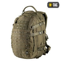 25л Рюкзак M-TAC MISSION PACK LASER CUT OLIVE Ручка из Paracord