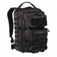 36л рюкзак Mil-tec US ASSAULT PACK LG TACTICAL BLACK PVC