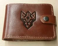 Шкіряний лаковий гаманець Батальйон ім. генерала Кульчицького