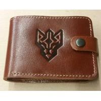 Шкіряний гаманець Батальйон ім. генерала Кульчицького