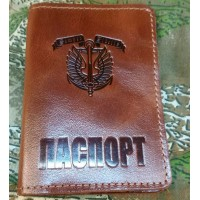 Обкладинка Паспорт Морська піхота (руда лакова) Semper Fidelis