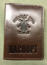 Обкладинка Паспорт 25 БТРО (коричнева, лакова) Акція Оновлення Асортименту