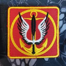 Нарукавний знак Морська Піхота України червоний (квадрат)
