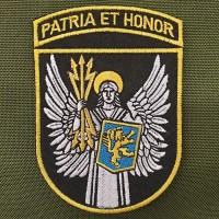 Нарукавний знак ВІТІ Patria et honor (чорний, кольоровий)