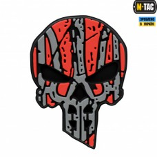 PVC патч UKRAINIAN PUNISHER Red-Black